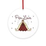 Prim Lover Ornament (Round)