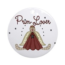 Prim Lover Ornament (Round)