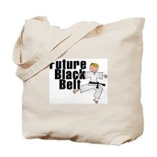 Blonde Future Black Belt Tote Bag