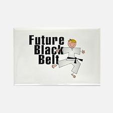 Blonde Future Black Belt Rectangle Magnet