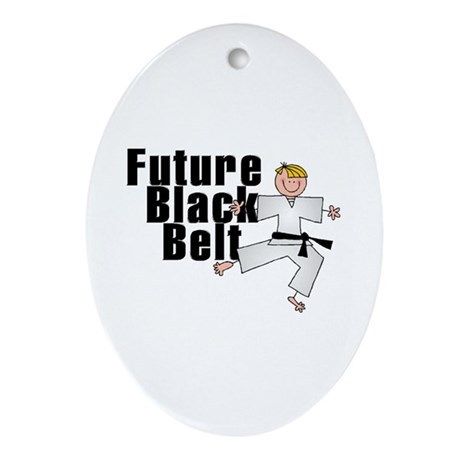 Blonde Future Black Belt Oval Ornament