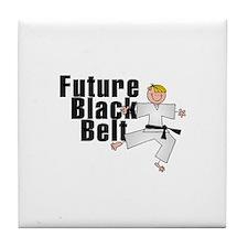 Blonde Future Black Belt Tile Coaster