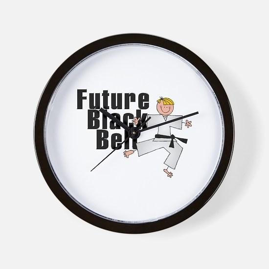 Blonde Future Black Belt Wall Clock