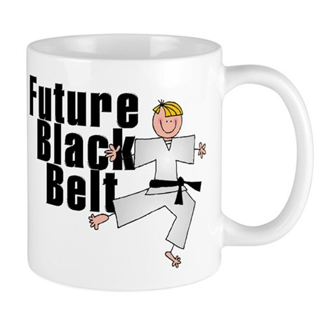 Blonde Future Black Belt Mug