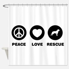 American Bulldog Shower Curtain