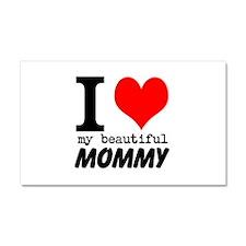 I Heart My Beautiful Mommy Car Magnet 20 x 12