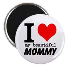 """I Heart My Beautiful Mommy 2.25"""" Magnet (100 pack)"""
