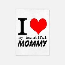 I Heart My Beautiful Mommy 5'x7'Area Rug