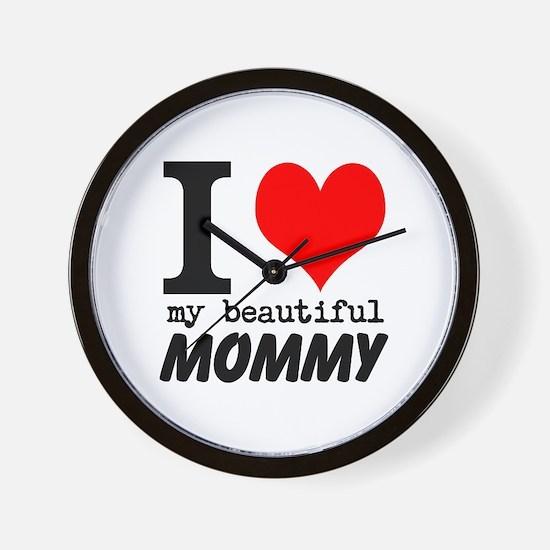 I Heart My Beautiful Mommy Wall Clock