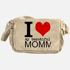 I Heart My Beautiful Mommy Messenger Bag
