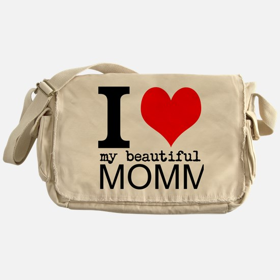 I Heart My Beautiful Mommy Messenger Bag