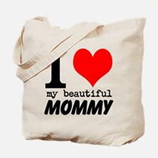 I Heart My Beautiful Mommy Tote Bag
