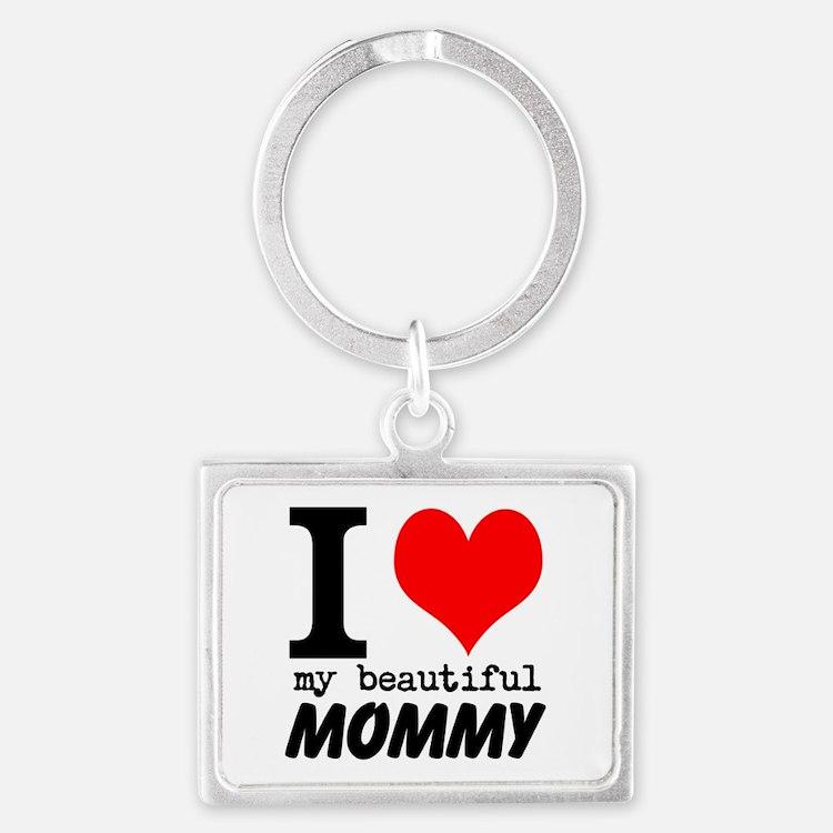 I Heart My Beautiful Mommy Landscape Keychain