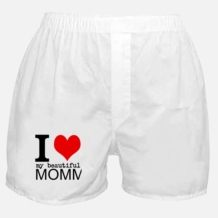 I Heart My Beautiful Mommy Boxer Shorts