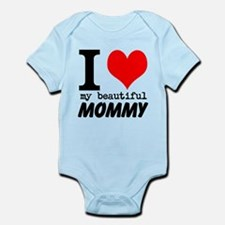 I Heart My Beautiful Mommy Infant Bodysuit