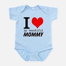 I Heart My Beautiful Mommy Onesie