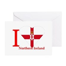 ulster banner I love Northern Ireland Greeting Car