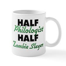 Half Philologist Half Zombie Slayer Mugs