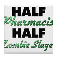 Half Pharmacist Half Zombie Slayer Tile Coaster