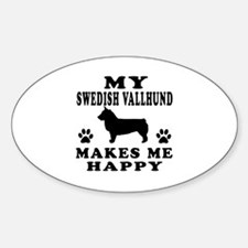 My Swedish Vallhund makes me happy Decal