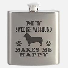 My Swedish Vallhund makes me happy Flask