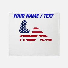 Custom American Beauty Throw Blanket