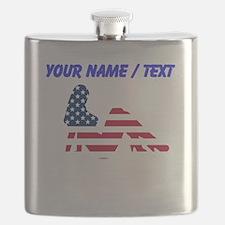 Custom American Beauty Flask