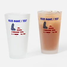 Custom American Beauty Drinking Glass