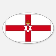Northern Ireland National flag Oval Decal