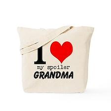 I heart my Spoiler Grandma Tote Bag