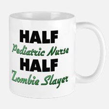 Half Pediatric Nurse Half Zombie Slayer Mugs