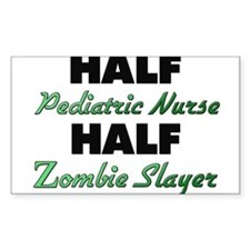 Half Pediatric Nurse Half Zombie Slayer Decal