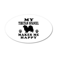 My Tibetan Spaniel makes me happy Wall Decal
