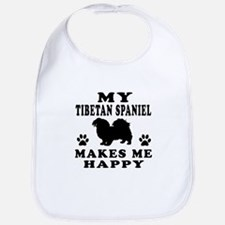 My Tibetan Spaniel makes me happy Bib