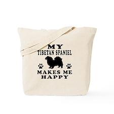 My Tibetan Spaniel makes me happy Tote Bag