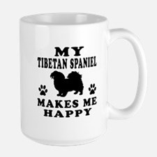 My Tibetan Spaniel makes me happy Mug