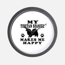 My Tibetan Spaniel makes me happy Wall Clock