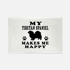 My Tibetan Spaniel makes me happy Rectangle Magnet