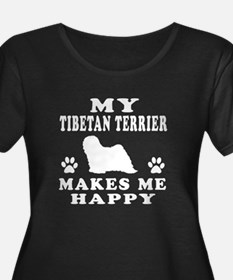 My Tibetan Terrier makes me happy T