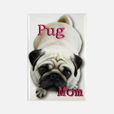 Pug Mom Rectangle Magnet