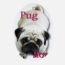Pug Mom Oval Ornament