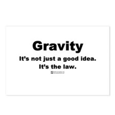 Gravity. It's the law. -  Postcards (Package of 8)