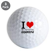 I Heart my Nurturing Grandpa Golf Ball