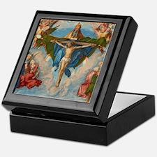 Adoration of the Trinity by Albrecht  Keepsake Box