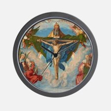 Adoration of the Trinity by Albrecht Du Wall Clock