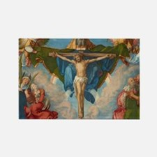 Adoration of the Trinity by Albre Rectangle Magnet