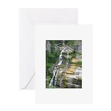 Robert H Treman Waterfall Greeting Cards