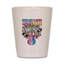 Peace Love & Music Shot Glass