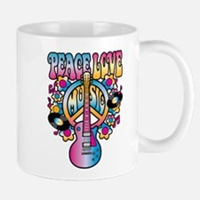 Peace Love & Music Mugs