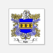 """Taylor Family Crest 1 Square Sticker 3"""" x 3"""""""